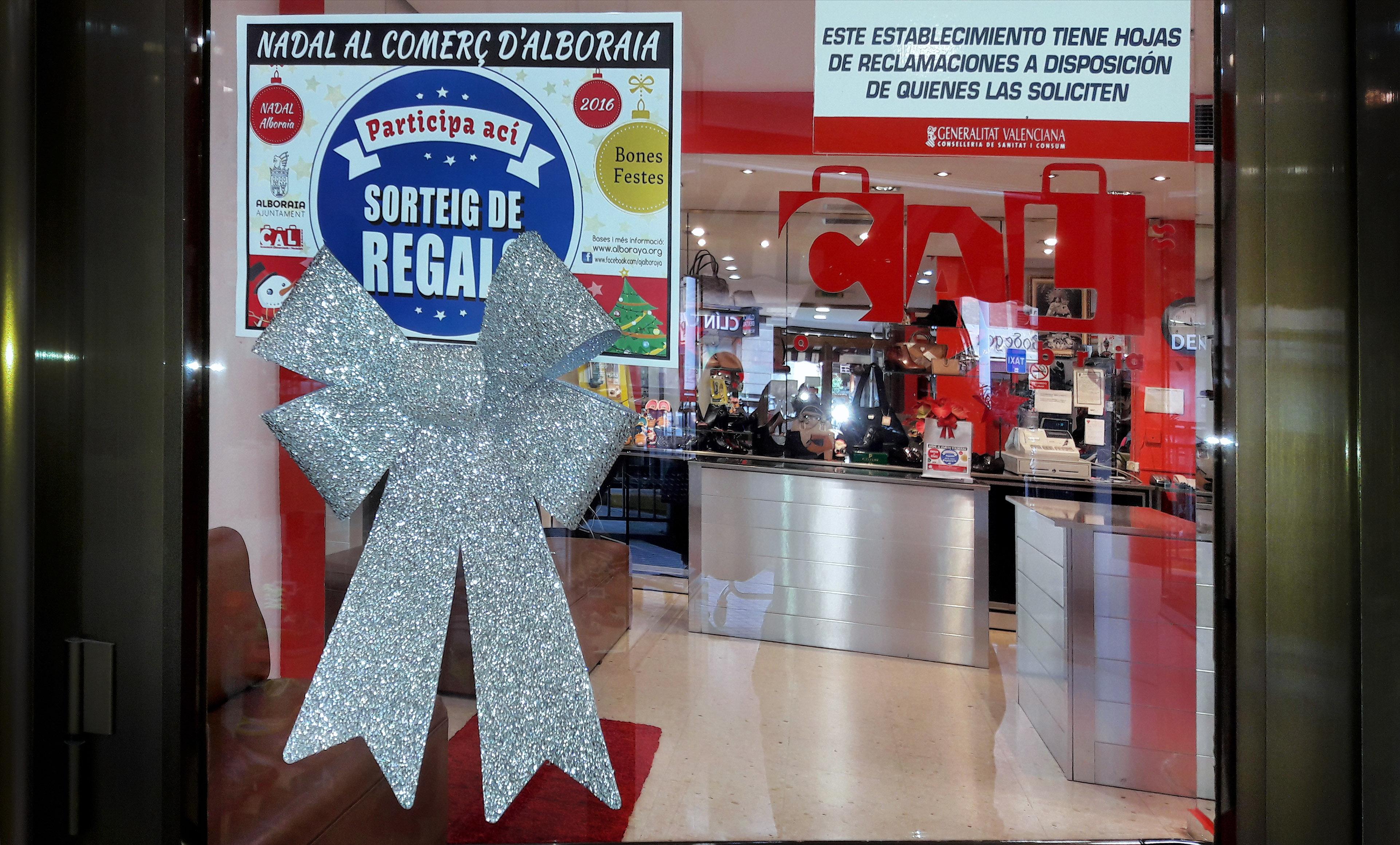 Comercios de Alboraia sortearán el 9 de enero regalos entre sus clientes